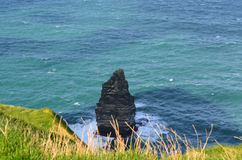The Needle Off the Cliff`s Of Moher in Ireland Stock Photography