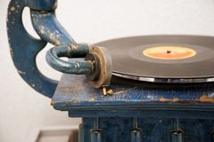 Needle old gramophone. Old retro music. Vintage items and old technology stock image