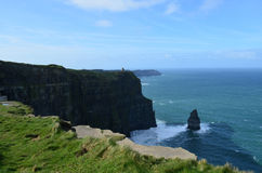 The Needle Rock Formation on the Cliff`s of Moher Stock Photo
