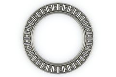 Needle roller thrust bearing. Steel thrust bearing designed to handle mainly axial loads. Inner diameter: 45mm, Outer diameter: 65mm Stock Photos