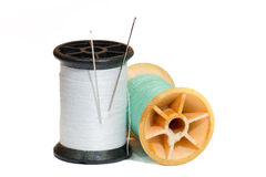 Needle and spool Royalty Free Stock Images