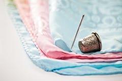 Needle and thimble Royalty Free Stock Photo