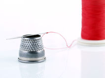 Needle and Thimble. Royalty Free Stock Photo