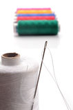 Needle and thread Royalty Free Stock Photos