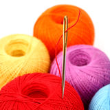 Needle thread Royalty Free Stock Images
