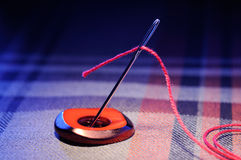 Needle and thread Stock Image