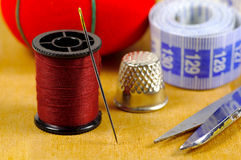 Needle and Thread Royalty Free Stock Images