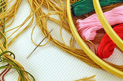Needle and thread Stock Image
