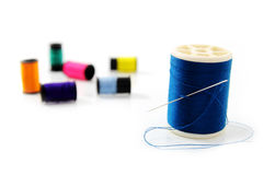 Needle and thread. Royalty Free Stock Photos