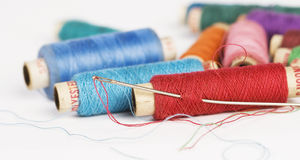 Needle and Thread reels Royalty Free Stock Photography