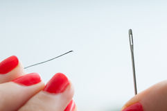 Needle and thread Royalty Free Stock Photography