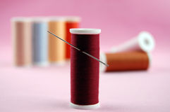 Needle and Threads Stock Photography