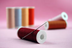 Needle and Threads Royalty Free Stock Photography
