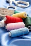 Needle and threads Stock Photo