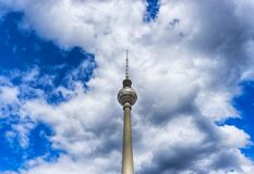 Needle Tower Above White Clouds during Daytime Royalty Free Stock Photo