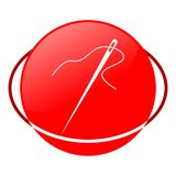 Needle vector illustration, Red icon. Red icon, needle vector illustration, vector icon Royalty Free Stock Image