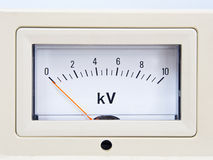 Needle voltmeter Stock Image