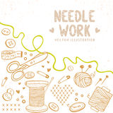 Needle work Royalty Free Stock Photography