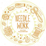 Needle work design Stock Images