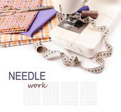 Needle work hobby background Stock Photography