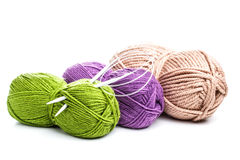 Needle and yarns Royalty Free Stock Images