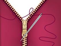 Needle and zipper jacket. Steel needle and jacket with zipper Royalty Free Illustration