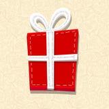 Needlecraft Christmas Present. Spatial background Stock Photo