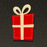 Needlecraft Christmas Present Royalty Free Stock Photography