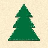 Needlecraft Christmas Tree. Spatial illustration Royalty Free Stock Image