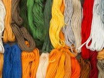 Needlecraft embroidery threads Stock Photography
