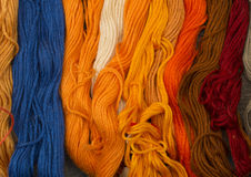 Needlecraft embroidery threads Royalty Free Stock Images