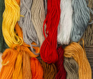 Needlecraft embroidery threads Royalty Free Stock Image