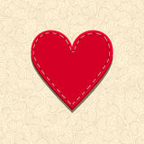 Needlecraft Heart Stock Photo