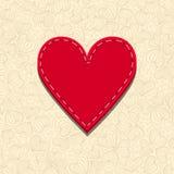 Needlecraft Heart. Spatial Valentines card Stock Photo