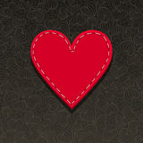Needlecraft Heart. Spatial Valentines or Mothers day card Royalty Free Stock Photography