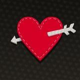 Needlecraft Heart. Valentines Day card Stock Photo