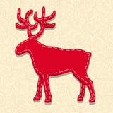 Needlecraft Reindeer. Christmas Card,   eps10 illustration Stock Image