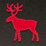 Needlecraft Reindeer. Christmas Card illustration Stock Photography