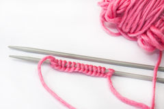 Needler and wool for knitting Stock Photos