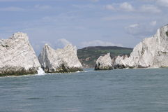The Needles. At the Isle of Wight Stock Image