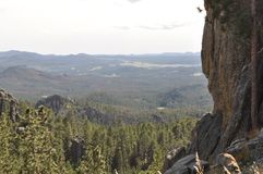 The Needles in Black Hills South Dakota and Mountain Views. The Needles in the Black Hills South Dakota was the original proposed site for Mt. Rushmore carvings Stock Photos