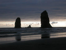 The Needles - Cannon Beach, Oregon Stock Images