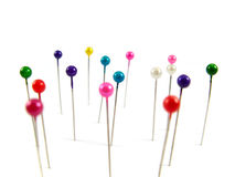 Needles with colored heads Stock Images