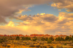 Needles District of the Canyonlands National Park in Utah. Royalty Free Stock Image