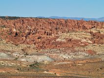 The Needles of Canyonlands. The Needles forms the southeast corner of Canyonlands in Utah and was named for the colorful spires of Cedar Mesa Sandstone that Stock Photos