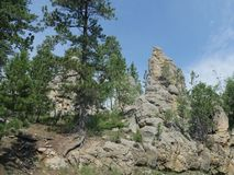 Needles Highway, Custer State Park photos, South Dakota. Incredible rock formations at Needles Highway in South Dakota stock image
