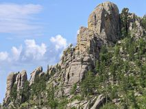 Needles Highway, Custer State Park photos, South Dakota. Tops of the Cathedral spires along the road at Needles Highway in Custer State Park, South Dakota stock photo