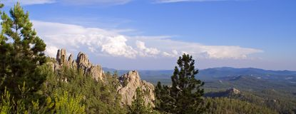 Needles Highway View. A view from an overlook on the Needles Highway in the Black Hills, South Dakota Stock Photography