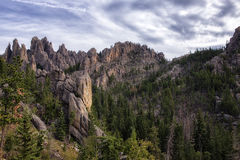 Needles Highway View. A view of the Needles rock formations in South Dakota Black Hills Royalty Free Stock Photos