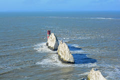 The needles at the Isle of White. A photo of the Needles off of the Isle of White coastline Royalty Free Stock Photos